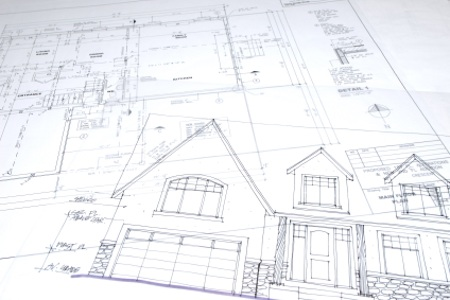 Blueprint of home remodel