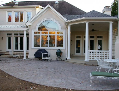 Covered porch and pergola