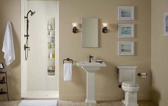 Family friendly bathroom after remodel