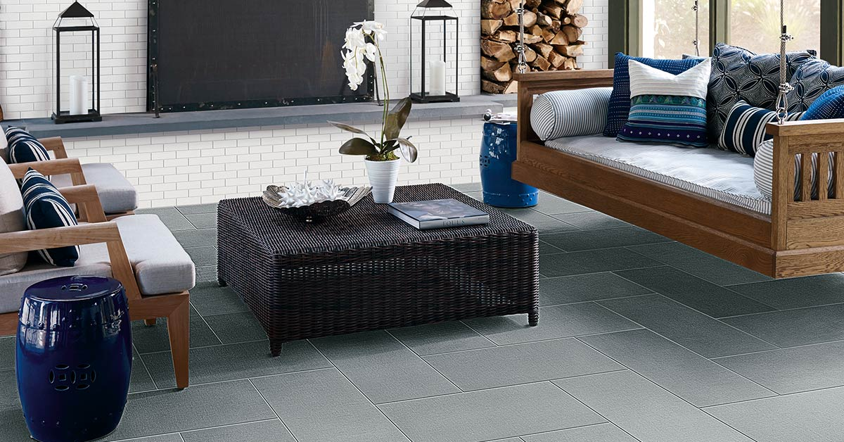 Fabric looking tile – a perfect tile design idea